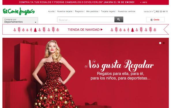 Diseño navideño en pagina web