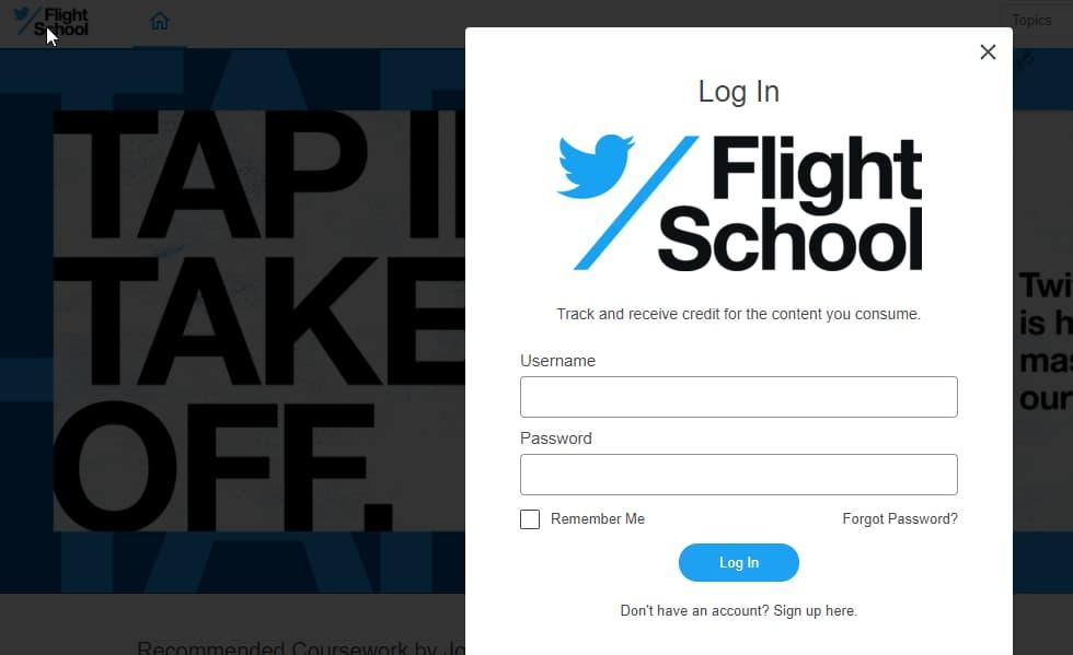 que es twitter flight school